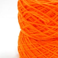 Vintage Knitting Yarn, Acrylic 4 Ply Tangerine Yarn, Crochet Supplies, Medallion Quality Yarn