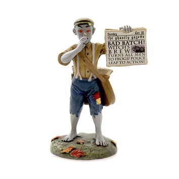 Department 56 Accessory BAD NEWS PAPERBOY Polyresin Halloween 6003229