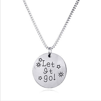 New Arrival Jewelry Shiny Gift Stylish Accessory Hot Sale Alphabet Pendant Necklace [8026215495]