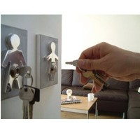 His and Her Key Holders - Couple Human Key Holders (Set of 2) - Perfect House Warming Gift for Couples and Newlyweds