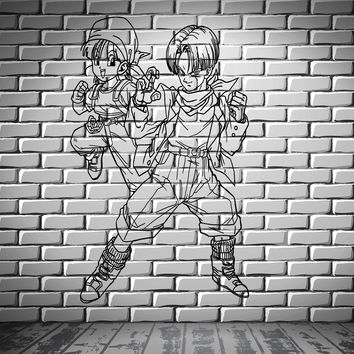 Dragon Ball Z Cartoon Anime Manga Kids Decor Wall Mural Vinyl Decal Sticker Unique Gift M412