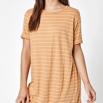 Michelle by Comune Striped T-Shirt Dress at PacSun.com