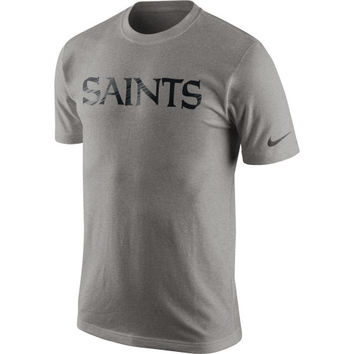 Nike New Orleans Saints Fast Wordmark T-Shirt - Gray