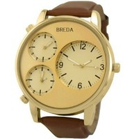 Breda Men's 1627-Gold Mitchell Multi Time Zone Watch
