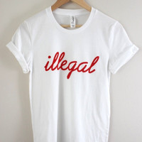 Illegal White Graphic Unisex Tee
