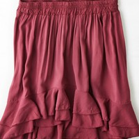 AEO Women's Don't Ask Why Ruffled Circle Skirt