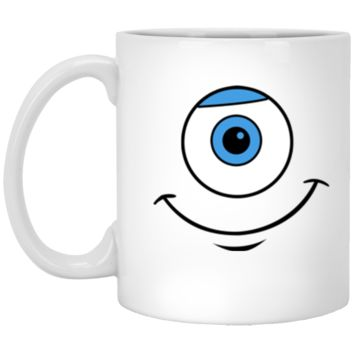 Disney Monsters Inc. Mike Eye Smile Graphic T-Shirt XP8434 11 oz. White Mug