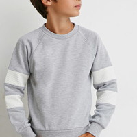 Boys Texture-Paneled Sweatshirt (Kids)