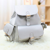 Golden Pin Buckle Lock Backpack