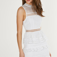 Caroline Crochet Ruffle Dress