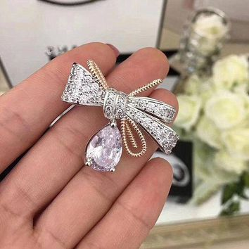 CREYKH7 Fashionable brooch pin bow boutonniere