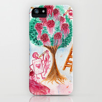 Painting the Roses Red iPhone & iPod Case by Susaleena
