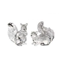 """CC Christmas Decor Pack of 8 Icy Crystal Decorative Squirrel Figurines 3.5"""" Animals"""