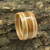 Bentwood Ring White Oak and English Brown Oak with Holly