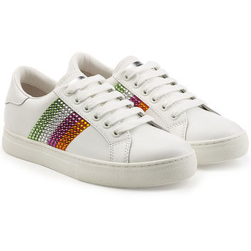 Empire Leather Sneakers with Embellishment - Marc Jacobs | WOMEN | KR STYLEBOP.COM