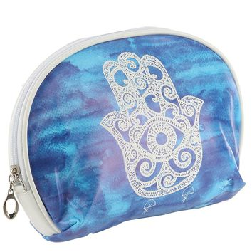 Mandala Evil Eye Vinyl Zipper w/ Wristlet Cosmetic Bag