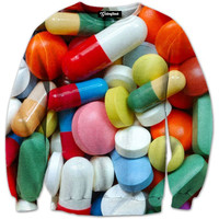Assorted Pills Crewneck