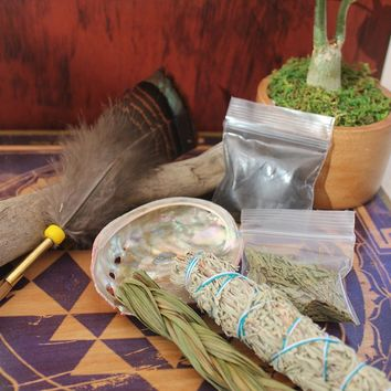 Earths Elements Traveling Smudge Kit