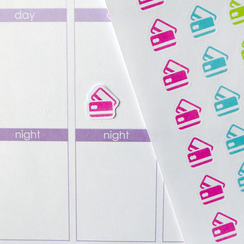 63 Credit Card Stickers for Erin Condren Planner, Filofax, Plum Paper