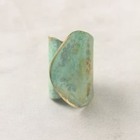 Aged Leaf Ring-Anthropologie.com
