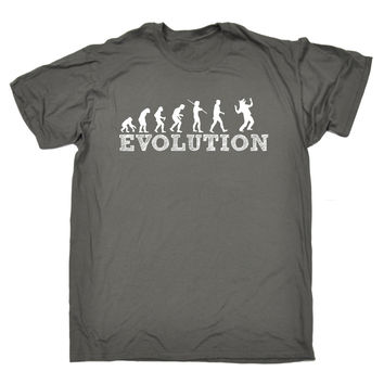 123t USA Men's Evolution Werewolf Funny T-Shirt