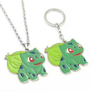 Pokemon Go Necklace Bulbasaur Pendant