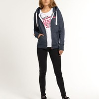 Womens - Orange Label Zip Hoodie in Brunswick Navy | Superdry