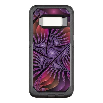 Colorful Fantasy Abstract Modern Purple Fractal OtterBox Commuter Samsung Galaxy S8 Case