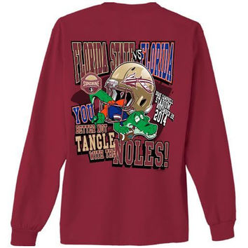 NCAA Florida State Seminoles FSU VS FLA Gameday Garnet Long Sleeve Shirt