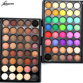 LEARNEVER 40 Colors Eyeshadow Palette With Eye Primer Luminous Eye shadow Palette Band Makeup cosmetics new M02690