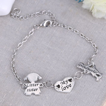 Grandmother Sister Love Pendants Bracelets