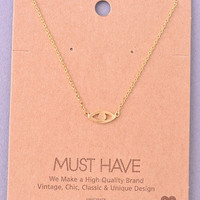Dainty Evil Eye Necklace - Gold, Silver or Rose Gold