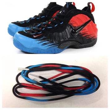 Laced Loudly Spiderman Foamposite Laces