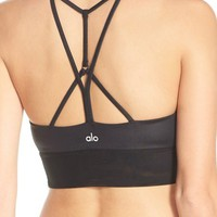 Alo 'Lush' Strappy Back Sports Bra | Nordstrom