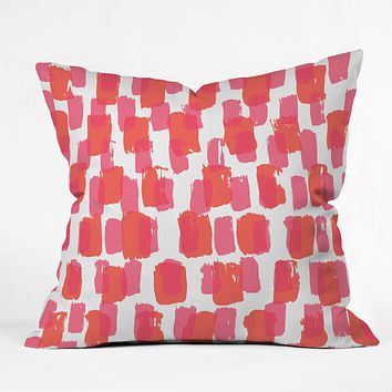 Natalie Baca Paint Play Two Throw Pillow