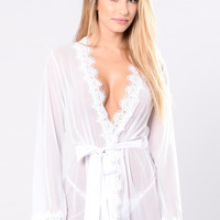 New Lover Robe - White