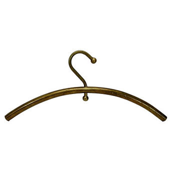 Vintage Brass Clothes Hanger Boutique Display Wall Hanging Decor Unique Booth Store Clothing Presentation