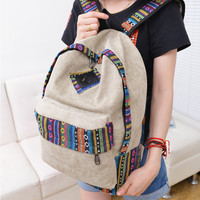 Casual Comfort Back To School College Stylish On Sale Hot Deal 3-color Canvas Ladies Backpack [8226770631]