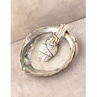 Large Abalone Shell and White Sage Smudge Set