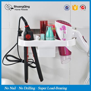 plastic storage rack holder kitchen rack bathroom wall storage rack Electric hair plywood comb hair dryer holder