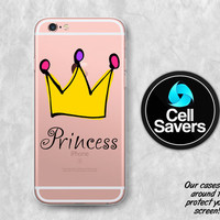 Princess Crown Clear iPhone 6s Case iPhone 6 Case iPhone 6 Plus iPhone 6s Plus iPhone 5c iPhone SE Clear Case Royal Queen Princess Tumblr