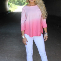 Pink Ombre 3/4 Shirt