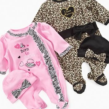Baby Essentials Baby Set, Baby Girls Coverall and Hat Set