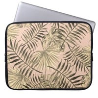 Palm leaf tropical laptop sleeve