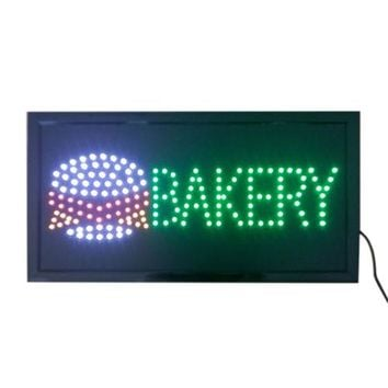 Bakery Neon Lights LED Animated Customers Attractive Sign 220V