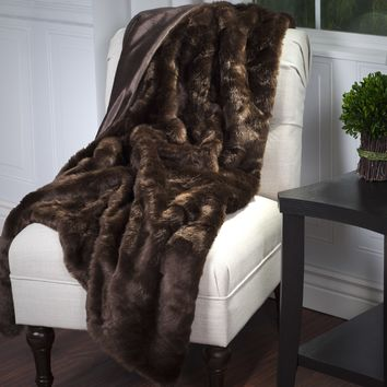 Lavish Home Luxury Long Haired Faux Fur Throw | Overstock.com Shopping - The Best Deals on Throws