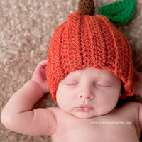 PUMPKIN FALL HALLOWEEN Crochet Hat Baby Newborn 0 3 6 12 Months 1T 2T 3T 4T Child Teen Adult