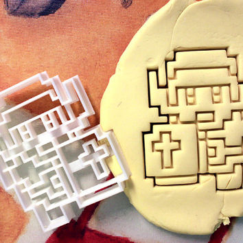 Zelda Link 8 bit Cookie Cutter - Made from Biodegradable Material