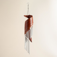 Coconut and Metal Tubes Wind Chimes - World Market