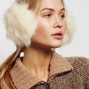 Free People Alpine Faux Fur Earmuffs